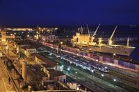 アルジェ港とアルジェ駅/夜景