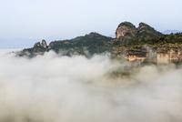 天遊峰から撮影/双乳峰/雲海