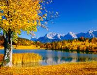 秋のゲロルド湖