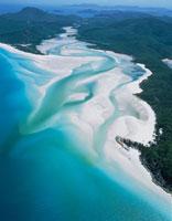 ホワイトヘブンビーチ 空撮  オーストラリア