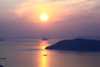 獅子の霊廟展望台より瀬戸内海の夕日