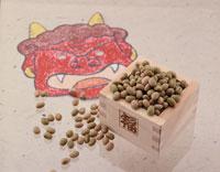 福豆と鬼の面