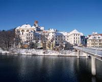 雪景色と街並   フュッセン ドイツ