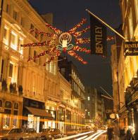 ボンドストリートのクリスマス ロンドン イギリス