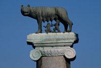カンピドリオ広場の狼の像  ローマ イタリア
