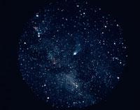 天の川とハレー彗星