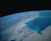 ペルシャ湾上空