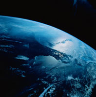 地球(フロリダ上空)
