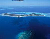 マナ島の全景 フィジー