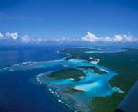 イル・デ・パンのオロ湾の空撮 ニューカレドニア