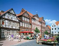 木組の家の街並 ツェレ  ドイツ
