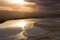パムッカレの夕景 01984026278| 写真素材・ストックフォト・画像・イラスト素材|アマナイメージズ