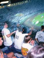 サッカー競技場の観客席 サンパウロ ブラジル