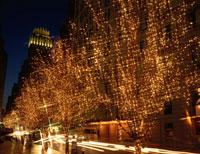 クリスマスのN.Yの夕景  アメリカ 02022019718| 写真素材・ストックフォト・画像・イラスト素材|アマナイメージズ