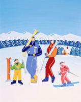 ペーパークラフト スキー