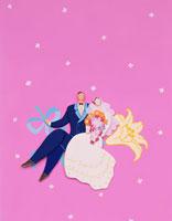 ウェディングのカップル ペーパークラフト 02022021986| 写真素材・ストックフォト・画像・イラスト素材|アマナイメージズ