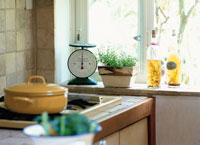 キッチンの窓辺