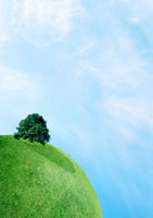 緑の地球と樹