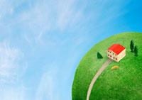 緑の地球と住宅