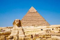 スフィンクスとカフラー王のピラミッド 02022347169| 写真素材・ストックフォト・画像・イラスト素材|アマナイメージズ