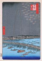 江戸百景 兩國花火 02022347418| 写真素材・ストックフォト・画像・イラスト素材|アマナイメージズ