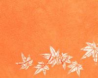 紅葉の和風の切り絵