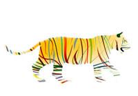 カラーストライプの虎