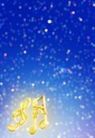 音符のあるクリスマスの雪イメージ 02022349319| 写真素材・ストックフォト・画像・イラスト素材|アマナイメージズ