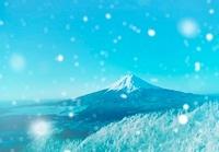 雪降る富士山 02022349422| 写真素材・ストックフォト・画像・イラスト素材|アマナイメージズ