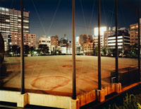 夜の浜町公園野球場
