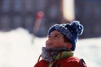 外国の男の子 冬