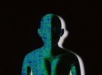 半身デジタルの人イメージ CG