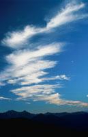 雲と乗鞍岳山腹 長野県