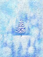 森の中のクリスマスツリー