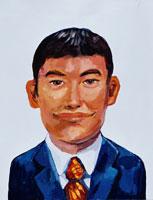 短髪のビジネスマン イラスト