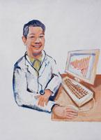 在宅医療のドクター イラスト 02112010080| 写真素材・ストックフォト・画像・イラスト素材|アマナイメージズ