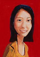 微笑む女性 イラスト 02112010109| 写真素材・ストックフォト・画像・イラスト素材|アマナイメージズ