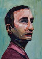 横向きの外国人男性 イラスト 02112010115| 写真素材・ストックフォト・画像・イラスト素材|アマナイメージズ