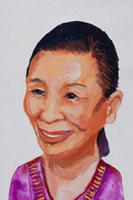 微笑む中高年女性 イラスト