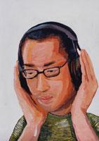 ヘッドホンをしている男性 イラスト 02112010127| 写真素材・ストックフォト・画像・イラスト素材|アマナイメージズ