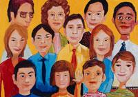 人種と人物の集合 イラスト