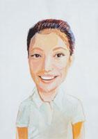 微笑む外国人の女性 イラスト 02112010139| 写真素材・ストックフォト・画像・イラスト素材|アマナイメージズ