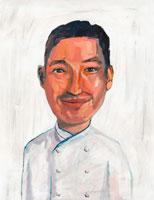 東洋人男性のシェフ イラスト