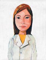日本人女性の医者 イラスト