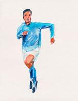 サッカーをする日本人男性  イラスト 02112010161| 写真素材・ストックフォト・画像・イラスト素材|アマナイメージズ
