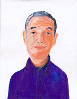 微笑む中高年男性  イラスト