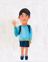 ランドセルをしょった小学生の男の子