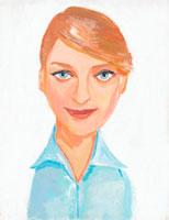 20代外国人女性のイラスト