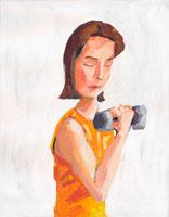 エクササイズをする女性