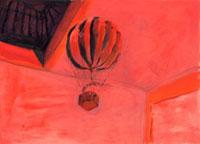 天井に浮く玩具の気球